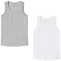 United Colors of Benetton 2 Pack Tank Top White & Grey White & Grey