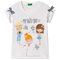 United Colors of Benetton T-shirt My Daisy Day in White White