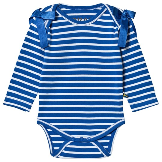 The BRAND Interlock Baby Body in Blue and White Blue