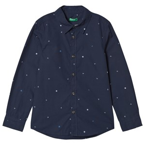 Image of United Colors of Benetton Navy Shirt M (7-8 år) (3034317573)