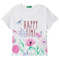 United Colors of Benetton Happy Time T-shirt White White