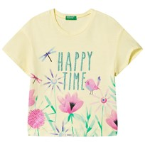 United Colors of Benetton Happy Time T-shirt Yellow Yellow