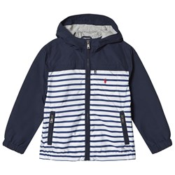 Ralph Lauren Blue Stripe and Solid Hooded Jacket