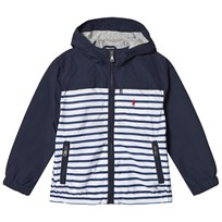 Ralph Lauren Blue Stripe and Solid Hooded Jacket 001