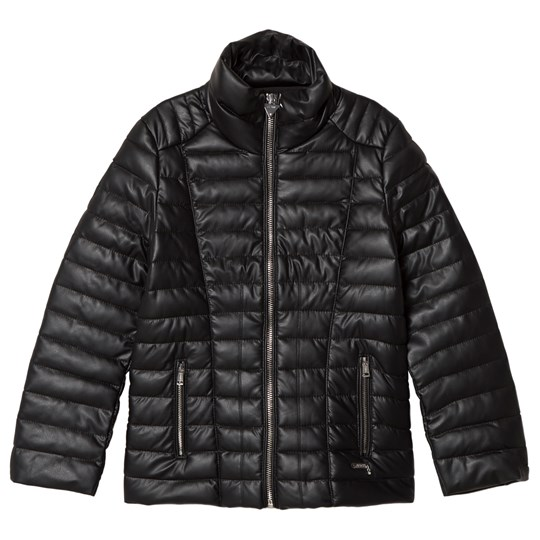 Guess Black Pleather Padded Jacket JBLK