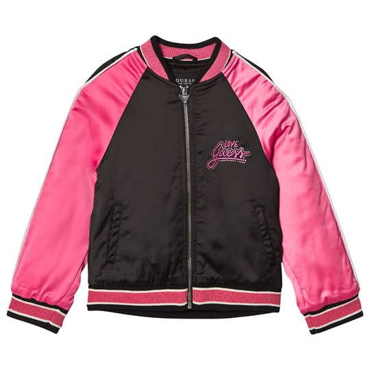 Guess Black and Pink Bomber Jacket F4P1