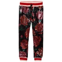 Guess Multi Colour Sequin Floral Trousers P5A4