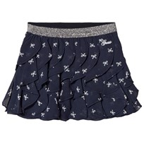 Guess Navy Bow Detail Frill Skirt P033