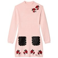 Guess Pink Rose Embroiderry Knit Dress G613