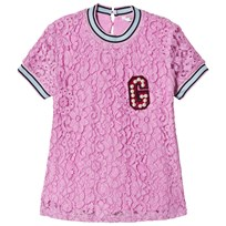 Guess Pink Lace Pearl G Top G414