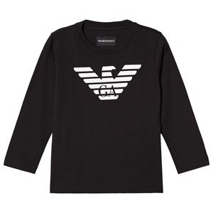 Image of Emporio Armani Black Eagle Logo Long Sleeve Tee 16 years (3035193417)