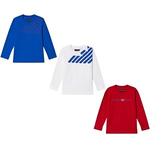 Image of Emporio Armani 3 Pack of Logo Tees3-Pack Logo Tee Multicolor 4 years (3056077511)