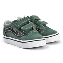 Vans Toddler Old Skool Shoes Duck Green and Black duck green/black