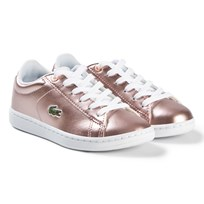 Lacoste Pink Carnaby Evo Kids Trainers PNK/WHT
