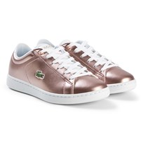 Lacoste Pink Carnaby Evo Junior Trainers PNK/WHT