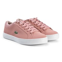 Lacoste Pink Straightset Junior Trainers PNK/NAT