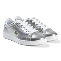Lacoste Silver Carnaby Evo Junior Trainers SLV/WHT