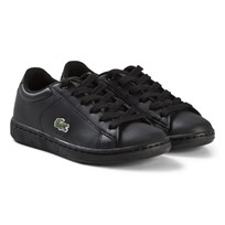 Lacoste Black Carnaby Evo Kids Trainers BLK/BLK