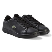 Lacoste Black Carnaby Evo Junior Trainers BLK/BLK