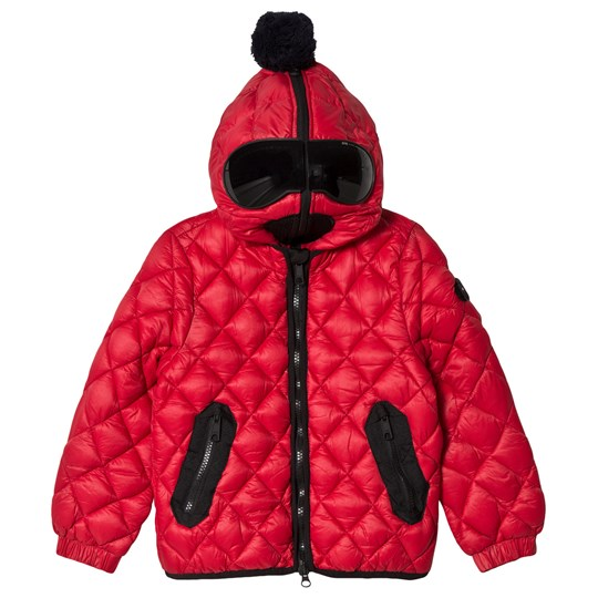 AI Riders on the Storm Red Diamond Quilt Padded Jacket 498