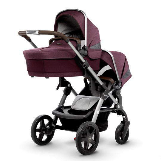 Silver Cross Wave Claret Carry Cot/Seat CLARET