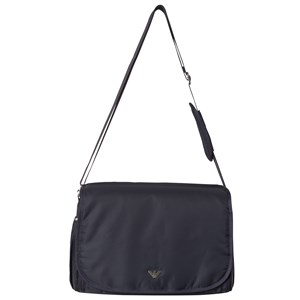 Image of Emporio Armani Navy Logo Changing Bag with Mat and Bottle Holder One Size (1122743)