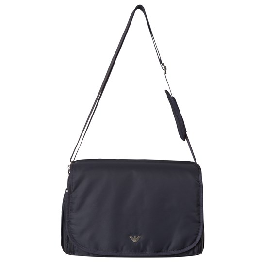 Emporio Armani Navy Logo Changing Bag with Mat and Bottle Holder 06935
