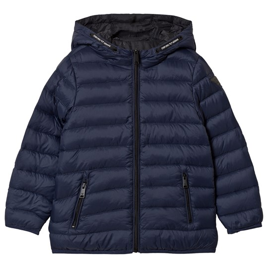 Emporio Armani Navy Padded Reversible into Black Puffer Coat 0930