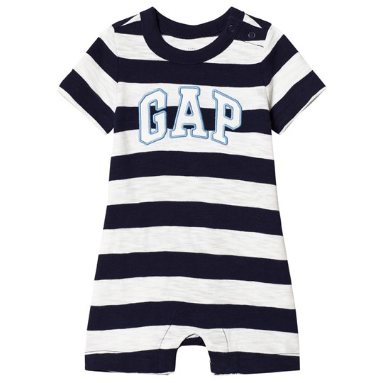 GAP Stripe Romper Navy Navy stripe
