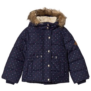 Image of Joules Navy Heart Spot Stella Padded Jacket 11-12 years (1133840)