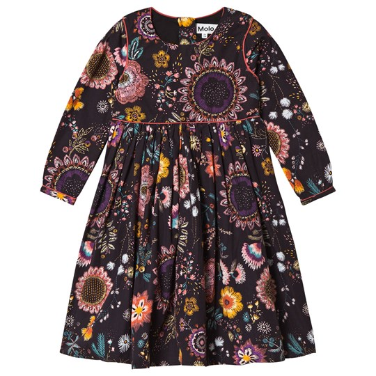 Molo Cassiopeia Dress Floral Embroidery Floral Embroidery
