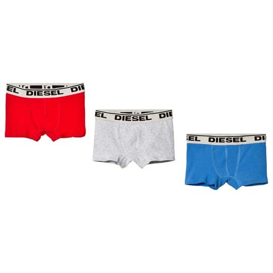 Diesel 3 Pack of Grey, Red and White Branded Boxers K410C