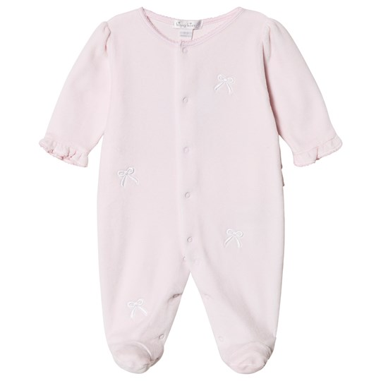Kissy Kissy Pink Bunches of Bows Velour Footed Baby Body PINK BUNCHES OF BOW