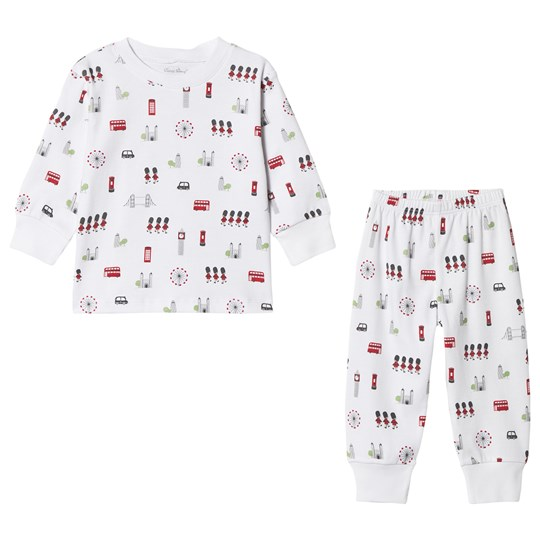 Kissy Kissy White London Landmark Print Pyjama Set LONDON PYJAMA SET