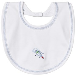 Kissy Kissy White Rockin Rocket Reversible Bib
