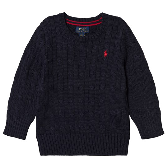 Ralph Lauren Navy Cable Knit Jumper with PP 001