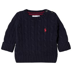 Ralph Lauren Navy Cable Knit Sweater