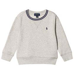 Ralph Lauren Grey Sweatshirt with Tipped Detail