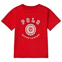 Ralph Lauren Red Polo and Crest Logo Tee