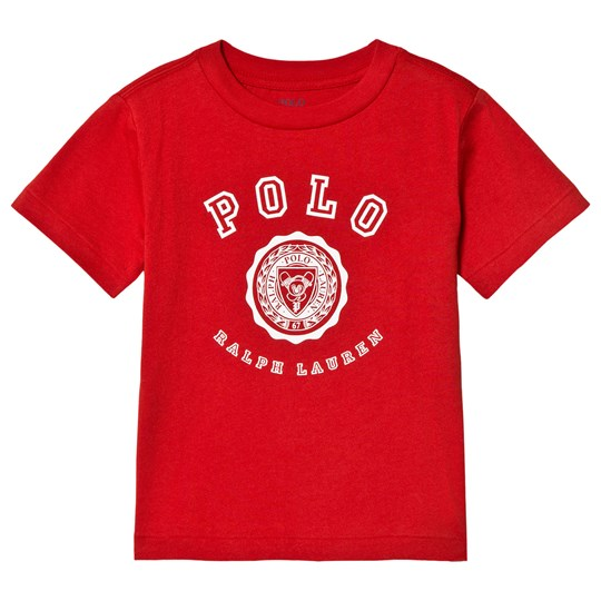 Ralph Lauren Red Polo and Crest Logo Tee 001