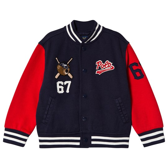 Ralph Lauren Navy Polo Bears Varsity Jacket 001