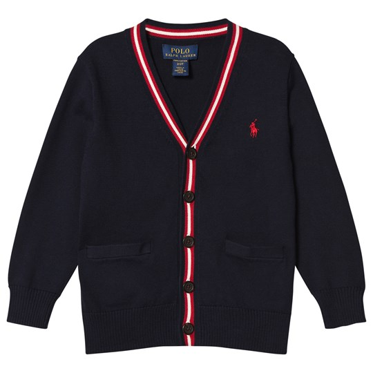Ralph Lauren Navy Piped Cardigan 001