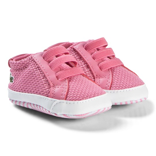 Lacoste Pink L.12.12 Crib Sneakers PNK/WHT