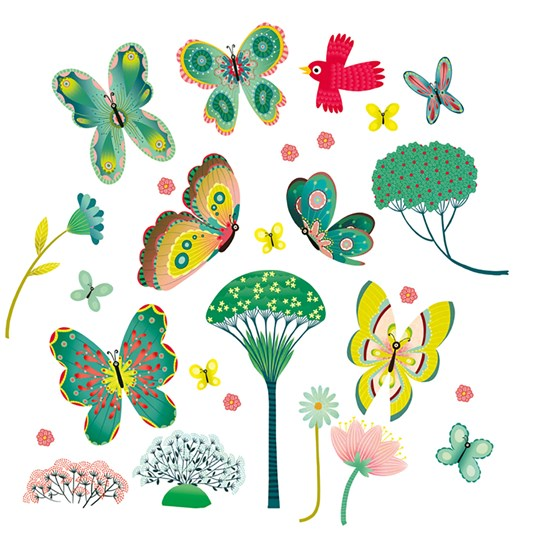 Djeco Butterflies Window Stickers Multi
