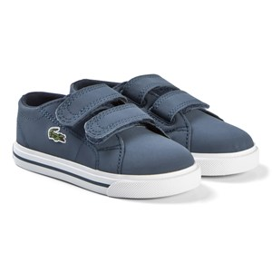 Image of Lacoste Blue Riberac 318 2 Velcro Infant Sneakers 21 (UK 5) (3037563149)