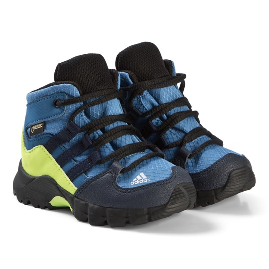 adidas Performance Terrex Mid GTX Shoes Blue and Green TRACE ROYAL S18/COLLEGIATE NAVY/SOLAR SLIME