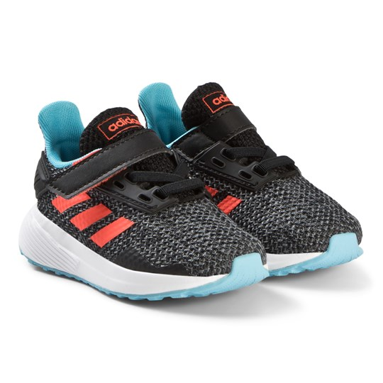adidas Performance Black, Blue & Red Duramo 9 Velcro Infants Running Trainers core black/solar red/GREY FOUR F17