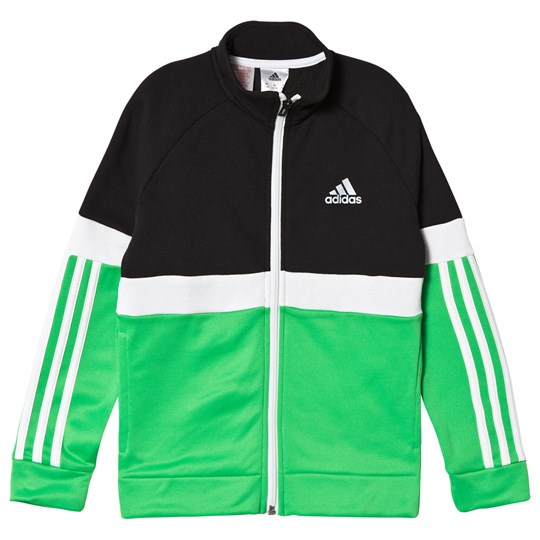 adidas Performance Black & Green Track Jacket black/vivid green/white