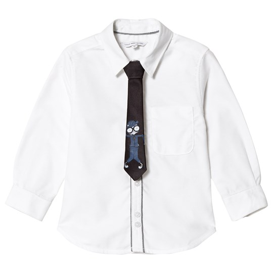 Little Marc Jacobs White Oxford Shirt with Removable MJ Tie 10B