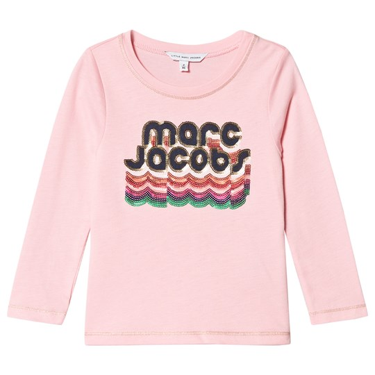 The Marc Jacobs Pinked Branded Long Sleeve Tee with Sequins 45T